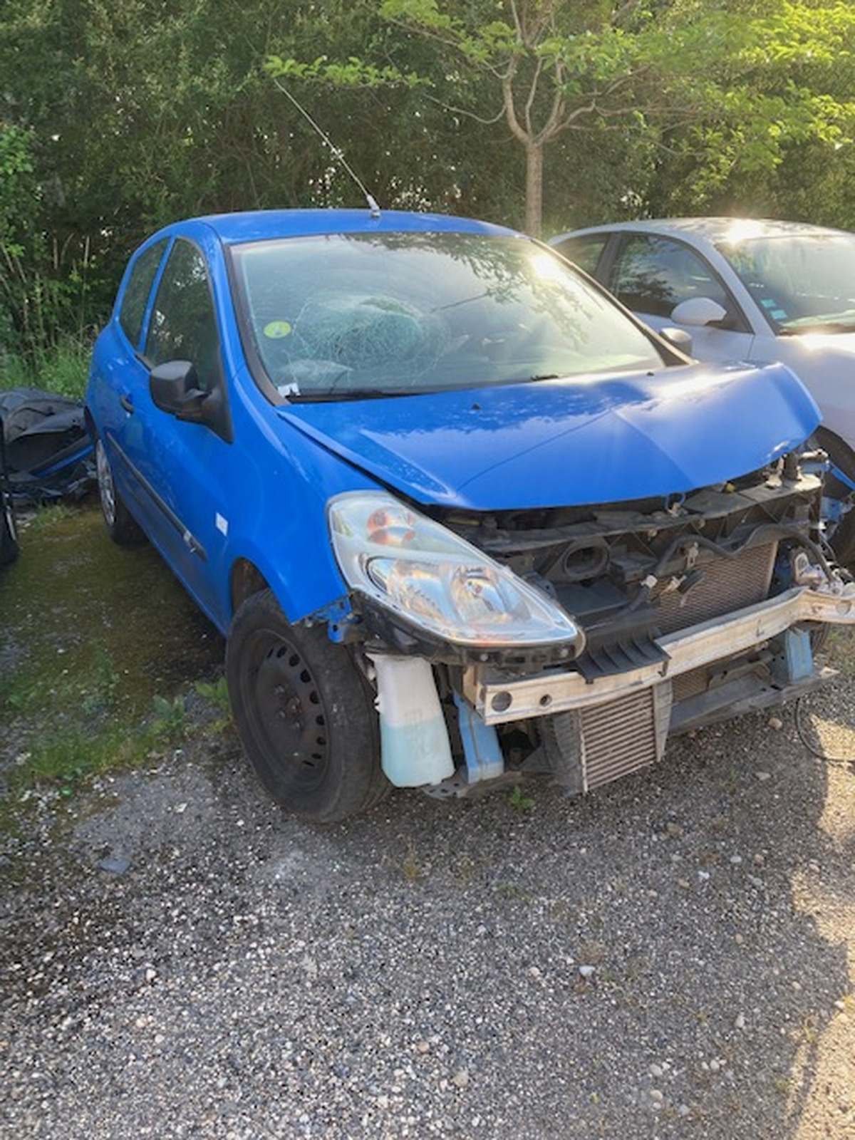Renault Clio III 1.5 DCi 75 accidenté 01